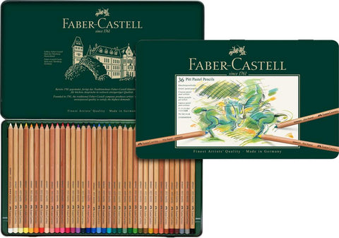 FABER CASTELL : PITT Pastel Pencil : Metal tin set 36