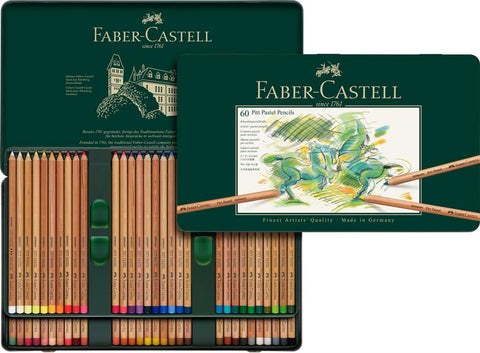 FABER CASTELL : PITT Pastel Pencil : Metal tin set 60