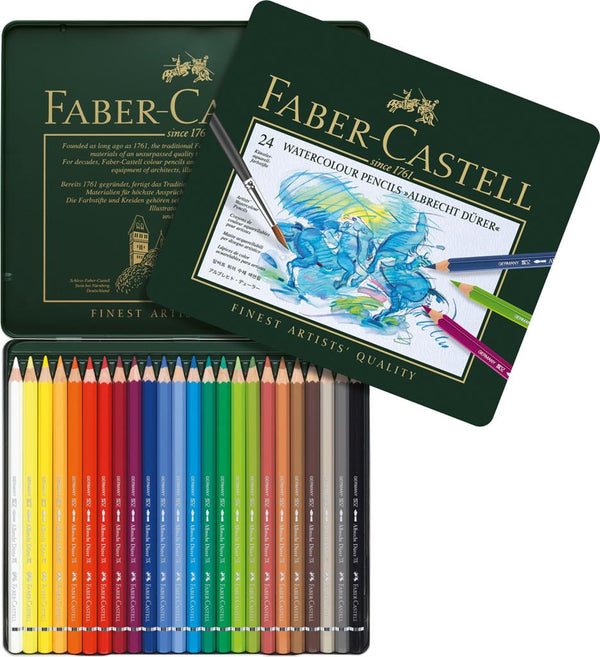 FABER CASTELL : Albrecht Dürer : Artists Watercolour Pencil Set : 24