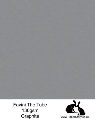 The Tube Favini Graphite Grey is an innovative matte paper and our favourite PaperCutting paper, also be use for foil and screen blocking. The subtle soft touch of this paper provides an elegance unsurpassed by any other paper. Fingerprints are kept to an absolute minimum due to its special properties.