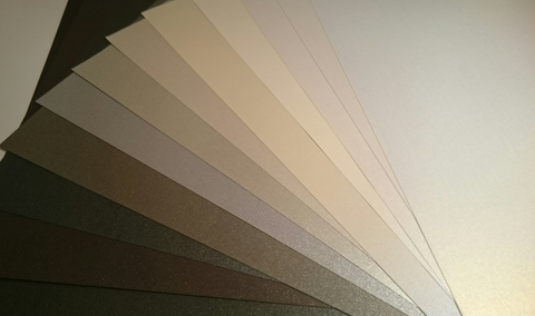 12 Greyscale Tones x 36 sheets A4  Pearlescent 120 gsm