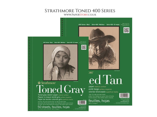 Strathmore 400 Series Toned Sketch Grey & Tan pads
