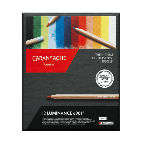 Caran d'Ache Luminance 12 colour assortment