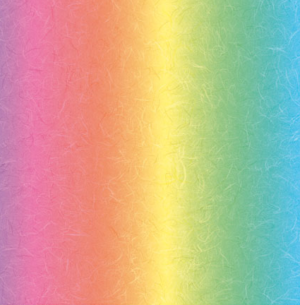 "Rainbow Paper - Mulberry effect 12"" x 12"" : Bright x 5 sheets"