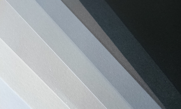 8 Layered pack of Greyscale A3  Pearlescent 120 gsm paper