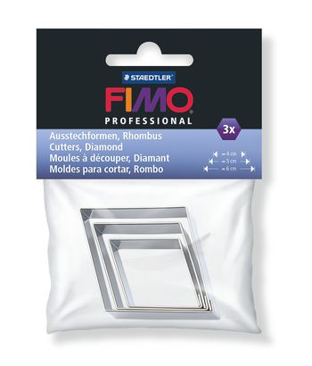 Fimo metal shape cutters : Professional Diamond x 3