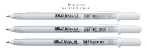 Sakura : Bright White Gelly Roll pens