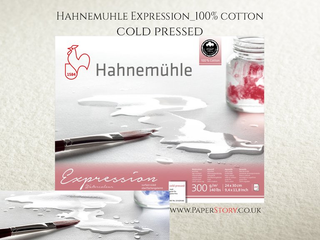Hahnemühle Expression 100% Cotton Watercolour Blocks - Cold Pressed - 20 Sheets 30 x 40 cms - 300gsm