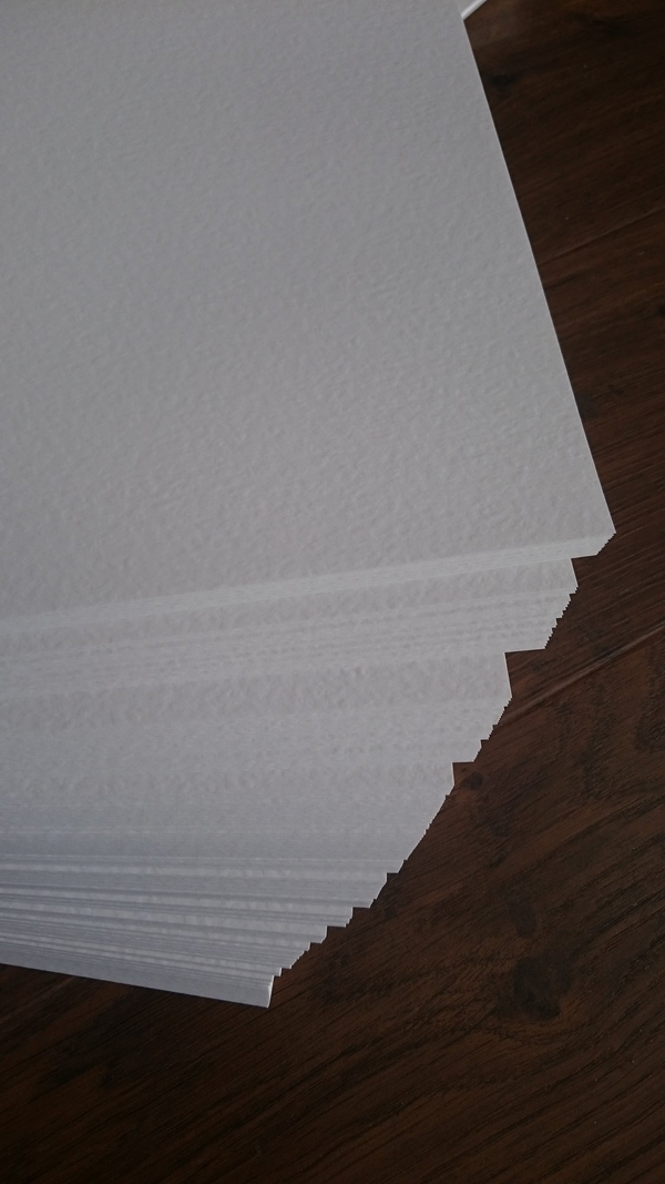 A3 : Hammered textured Paper 100 gsm : Brilliant White