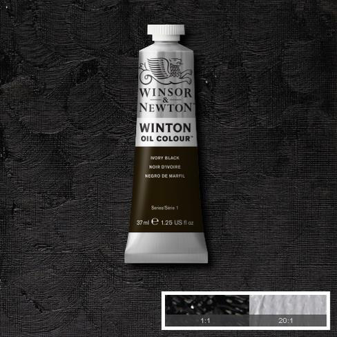 Winsor and Newton Oil : Ivory Black