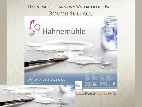 Hahnemühle 'Harmony' Watercolour Block  Rough  12 Sheets 300gsm A4