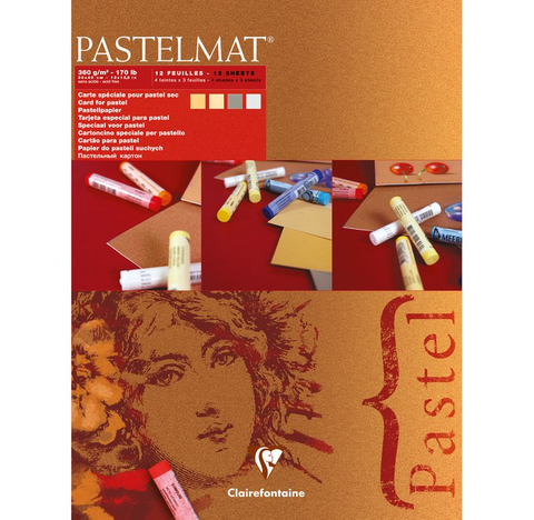 Pastelmat Clairefontaine artist  pad 360 gsm Red Label