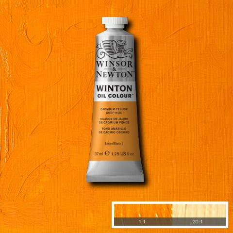 Cadmium Yellow Deep Hue is a warm yellow colour with orange undertones. It is a carefully selected combination of pigments closely resembling genuine Cadmium Yellow Deep.