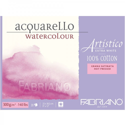 Fabriano Artistico AcquareLLo Watercolour paper 100 % Cotton Extra White 300 gsm
