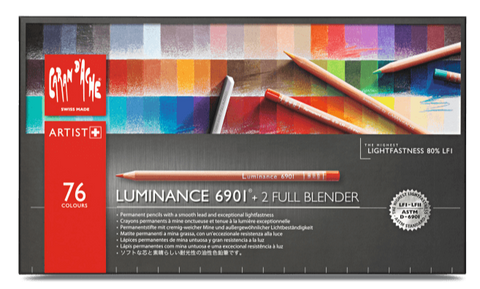 Caran d'Ache Luminance  76 colour assortment + 2 full blenders