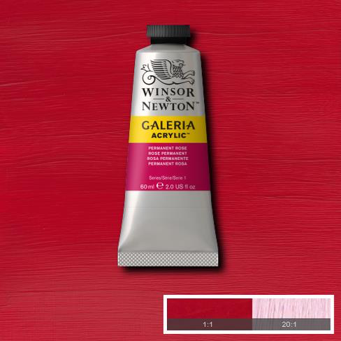 Winsor & Newton Galeria Acrylic Permanent Rose : 60ml