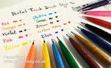 Pentel Touch Brush Sign Pen SES15C Touch assorted colours