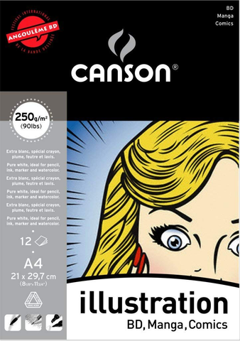 Canson illustration Pure White Manga paper 250 gsm