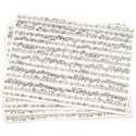 Patterned Paper 100 gsm A4 x 10 sheets Music Notes