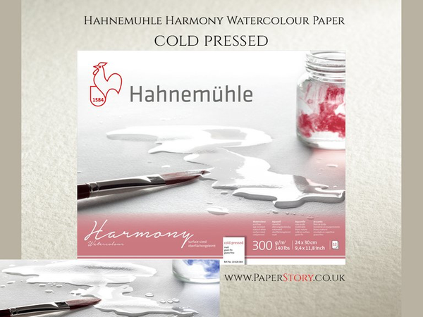 Hahnemühle 'Harmony' Watercolour Block Cold Pressed 12 Sheets 300gsm A3 (29.7 x 42cm )