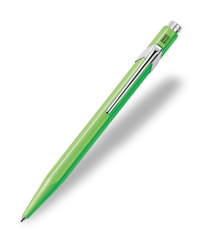 Caran d'Ache : Pop Line : Ballpoint pen and holder : Yellow Green Fluorescent