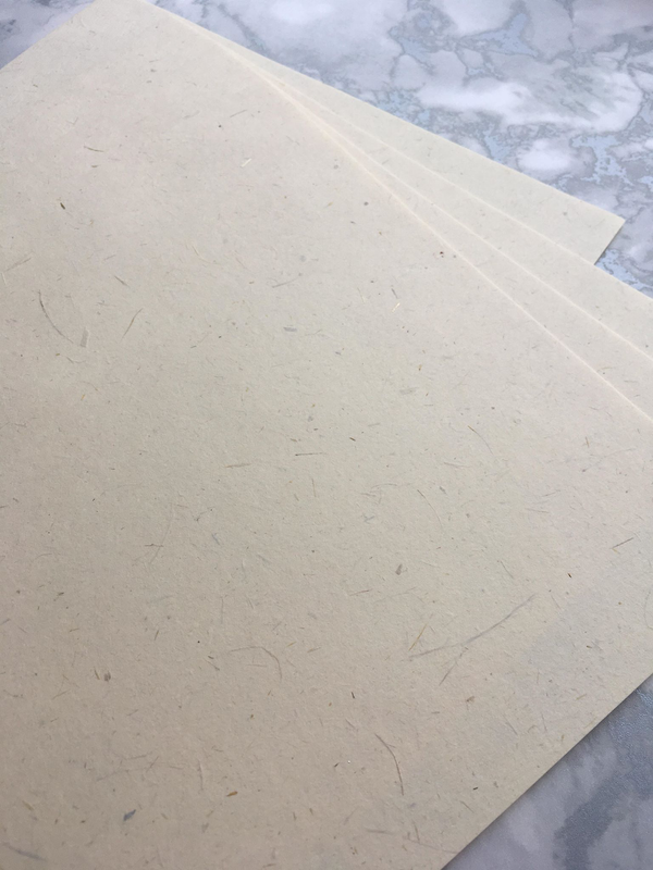 Golden Straw paper 120 gsm : Handmade in Britains oldest Paper Mill 100% Recycled