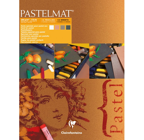 Pastelmat Clairefontaine artist  pad 360 gsm New shades Orange label