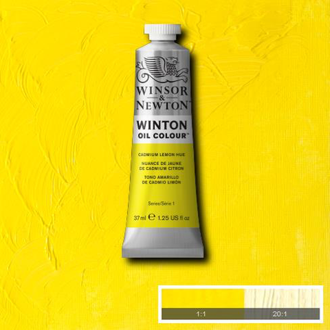 Cadmium Yellow Hue is a cool, bright yellow colour. It is an opaque colour closely resembling genuine Cadmium Lemon