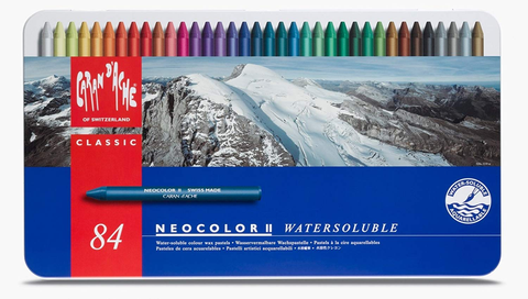 NEOCOLOR II Water-soluble assortment of 84 Colours