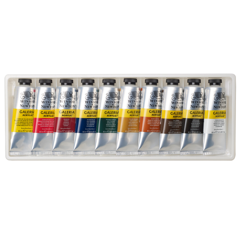 Galeria Acrylic Paint 10 x 60ml tube set