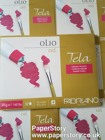 Fabriano : Tela Oil canvas paper paper block of 10 sheets