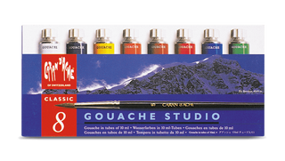 Caran d'Ache Gouache paint tubes assortment of 8 colours paperstory uk