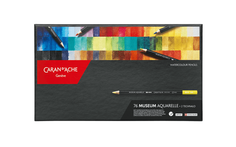 Caran d'Ache Museum Aquarelle assortment of 76 colours