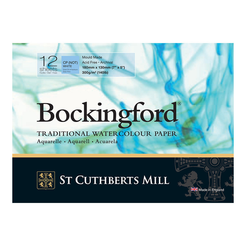 Bockingford : Watercolour Paper Glued Pad 300gsm  : NOT/Cold Press : 7 x 5 inches