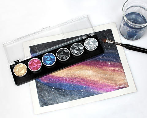 Finetec Coliro Mica Watercolour Paints Galaxy Watercolour paints