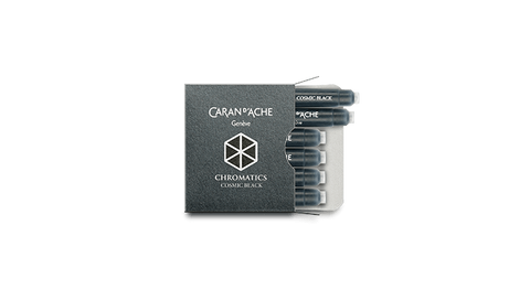 Caran d'Ache : Ink Cartridge Cosmic Black : 6 pieces
