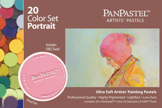 PanPastel 20 Colour Set Portrait.This fantastic set includes 20 individual pans as well as a selection of Sofft Tools. PanPastel portrait set offers a beautiful selection of colour tones for any portrait artist, with on trend colours for undertones and backgrounds as well. This comprehensive set also includes a great selection of Sofft application and blending tools.