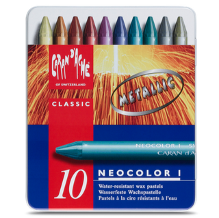 Caran d'Ache : Neocolor I Pastels, 10 Metallic colours