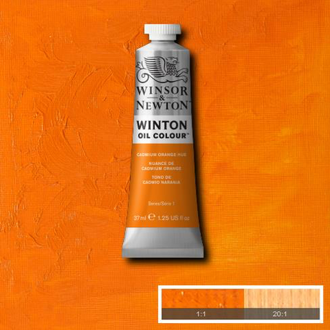 Cadmium Orange Hue is composed of several pigments closely resembling genuine Cadmium Orange. It is a versatile bright mid-range orange colour.