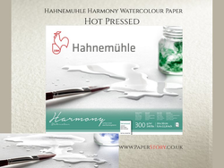 Hahnemühle Harmony Watercolour Hot Pressed Spiral Bound 300gsm x 12 sheets : A3