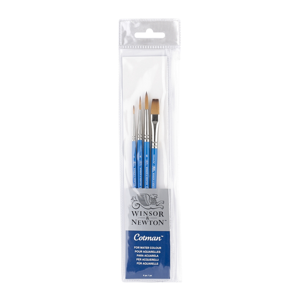 Winsor and Newton : Cotman Watercolour Brush : Set of 4 paperstory