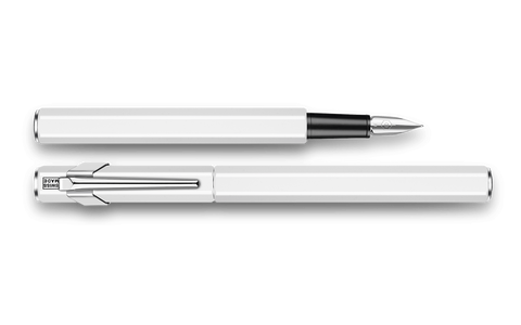 Caran d'Ache : 849 : METAL FOUNTAIN PEN : White