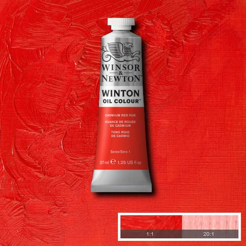 Cadmium Red Hue is a strong mid-range red colour. It is a carefully selected combination of pigments closely matching genuine Cadmium Red.