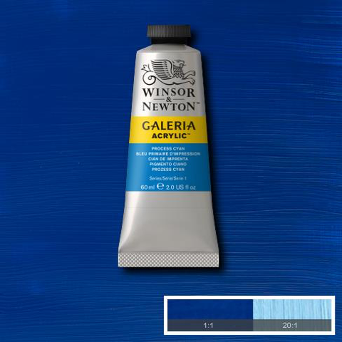 Winsor and Newton Galeria Acrylic Process Cyan