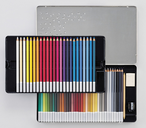 STABILO CarbOthello chalk-pastel coloured pencil metal box of 60 colours