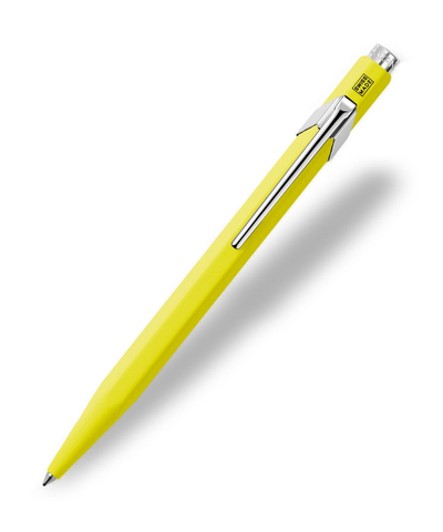 Caran d'Ache : Pop Line : Ballpoint pen and holder : Yellow Fluorescent