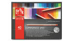 Cardboard box with 40 colours assortment. Caran d'Ache is a name synonymous with quality and professional artists. Obtaining the highest lightfastness