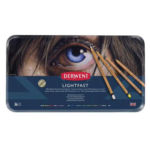 Derwent Lightfast Coloured Pencils tin 36