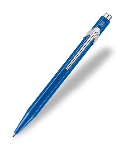 Caran d'Ache : Pop Line : Ballpoint pen and holder : Blue Metal X
