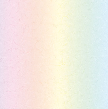 "Rainbow Paper - Mulberry effect 12"" x 12"" : Light x 5 sheets"